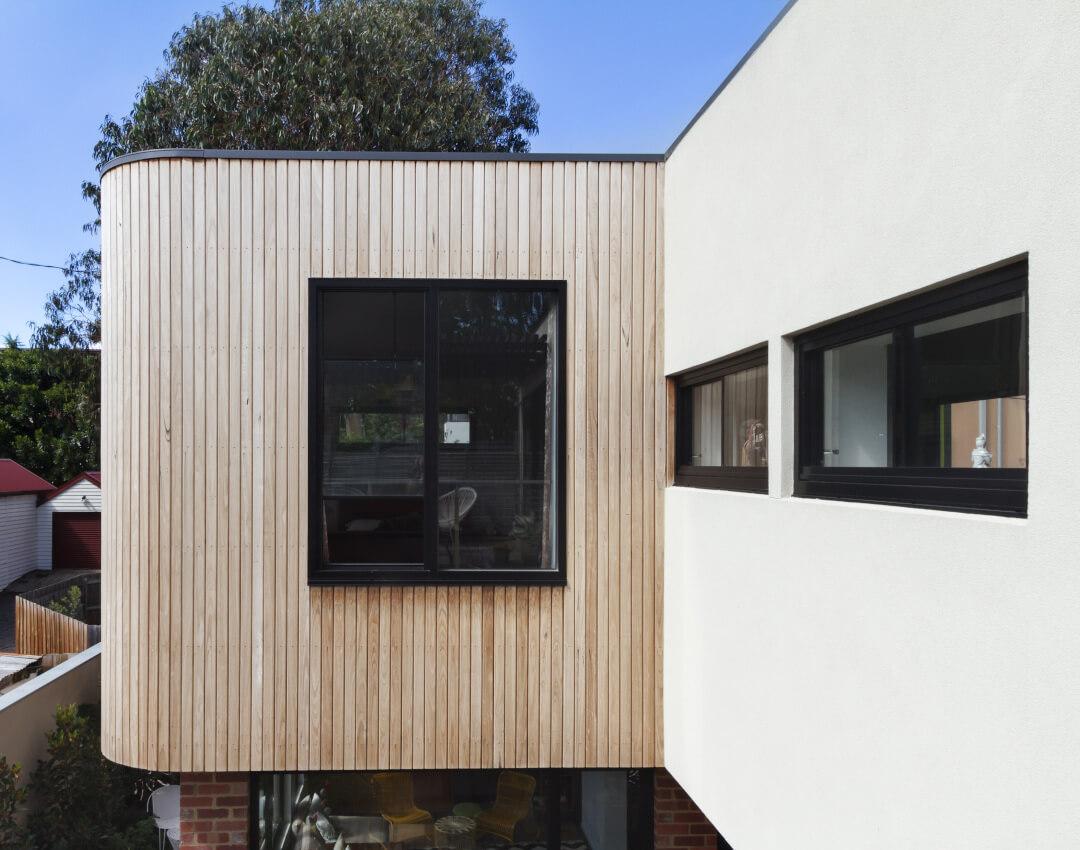 aluminium windows - home wall